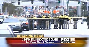 Police at scene of Las Vegas car chase and shooting