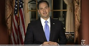 Senator Marco Rubio (R-Florida) delivers GOP response to State of the Union address
