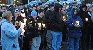 Hundreds gather in Lambertville for a memorial vigil for Sarah Majoras
