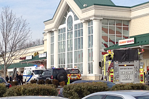 Fire and police at Shop Rite in Ewing