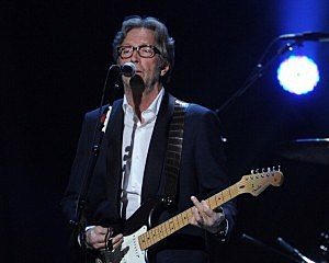 "Eric Clapton performs at ""12-12-12""  Sandy relief concert"