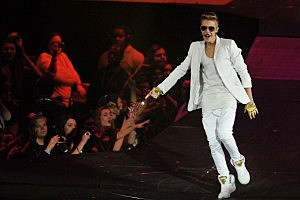 Justin Bieber performs live on stage at 02 Arena in London