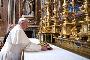 Pope Francis delivers an informal homily