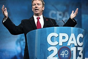 U.S. Sen. Rand Paul (R-KY) addresses the 40th annual Conservative Political Action Conference (CPAC)