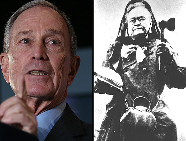 Mayor Bloomberg and Carrie Nation - Two Crusaders