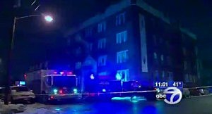 Apartment building on Fowler Avenue in Jersey City where 1 man was shot dead