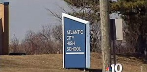 Outside Atlantic City High School