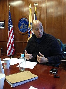 Newark Mayor Cory Booker in his office