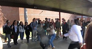 Screenshot of fight at Bridgewater-Raritan High School