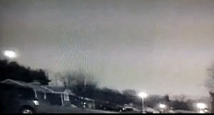 Meteor over east coast captured on surveillance cameara in Maryland