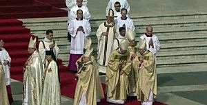 The installation mass of Pope Francis in Vatican City.