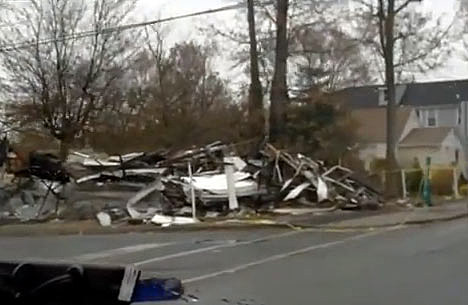 Damage from Sandy in Union Beach