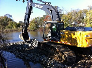 Wreck Pond in Spring Lake  dredging project in 2011