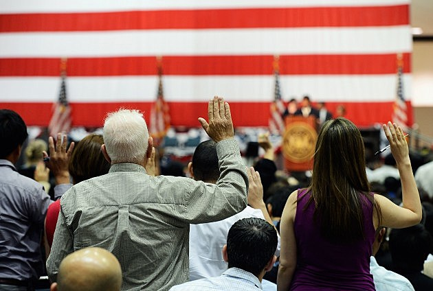 Becoming a U.S. Citizen and taking the oath of citizenship
