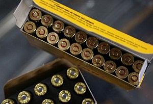 Boxes of 9mm and .223 rifle ammuntion