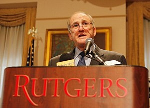 Rutgers University President Robert L. Barchi