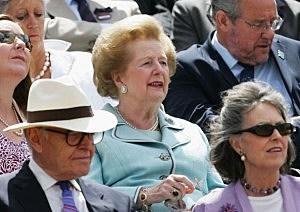 Former British Prime Minister Baroness Margaret Thatcher