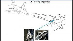 Boeing 767 trailing edge flap