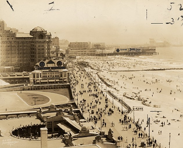 The Atlantic City Boardwalk is shown in this photo circa 1950s to 1960s. (NJ State Archives: Dept. of Agriculture Photos / Box 25)