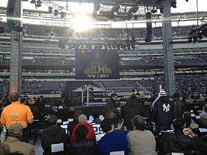 Inside Metlife Stadium at Wrestlemania