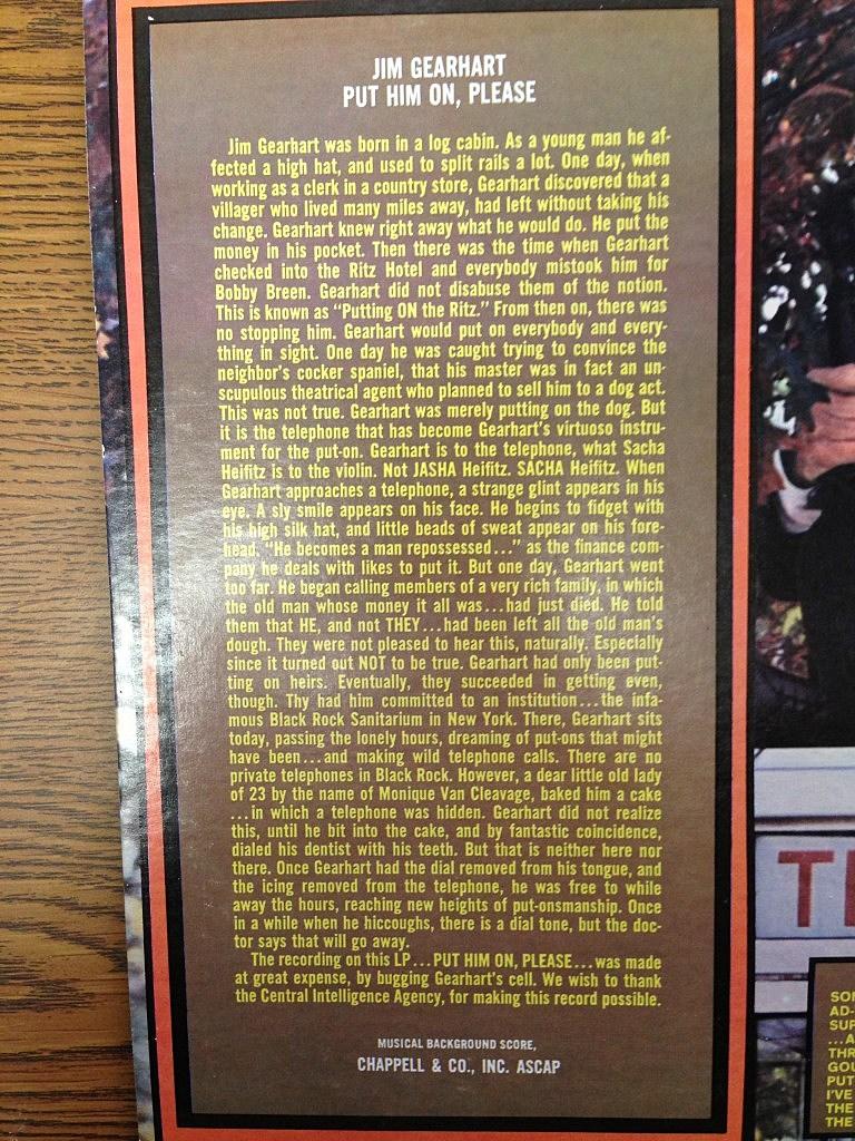 Jim Album Notes