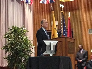 Rutgers President Robert Barchi at Newark town hall