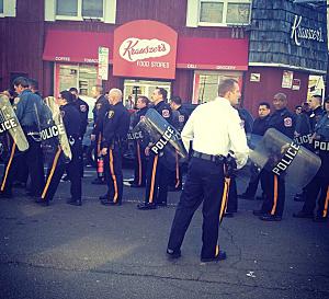 Police at Delafest in New Brunswick
