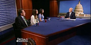 Members of Newtown victims families on Face the Nation