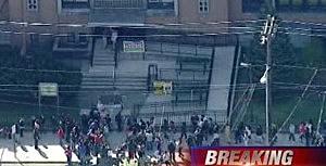 Students outside evacuated Passaic school