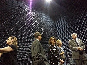 Radar testing room shown as part of tour from the MODC