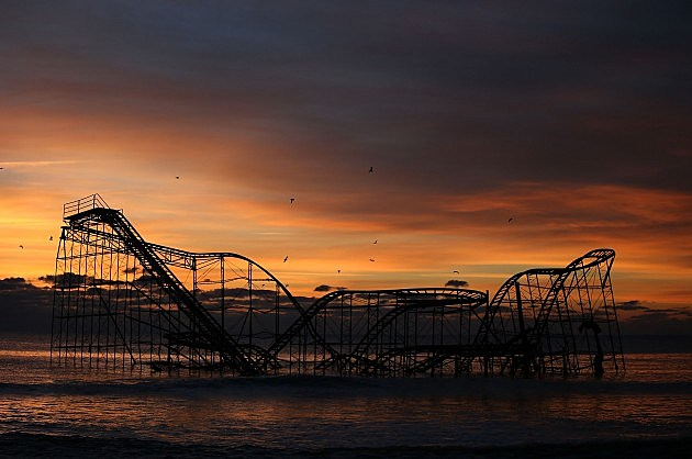 The Jet Star Roller Coaster in Seaside Heights as it appeared prior to demolition (Getty Images)