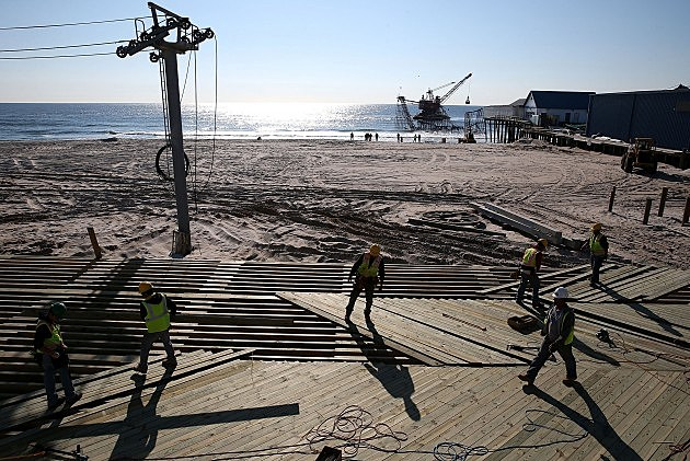 Seaside Heights Roller Coaster Prepped for Removal May 14, 2013 (Getty Images)