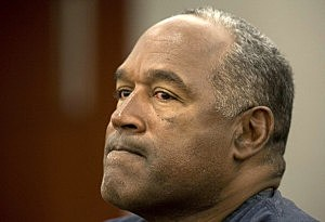 O.J. Simpson testifies during an evidentiary hearing in Clark County District Court