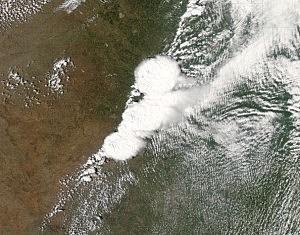 Satellite picture of Oklahoma tornado