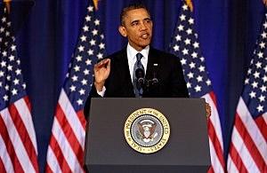 President Barack Obama speaks at the National Defense University