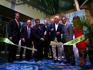 Governor Chris Christie and VIPs cut the ribbon for the Grand Opening of Margaritaville Atlantic City