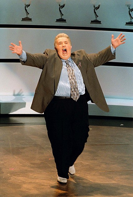 Martin Short's Character Jiminy Glick and Governnor Chris Christie