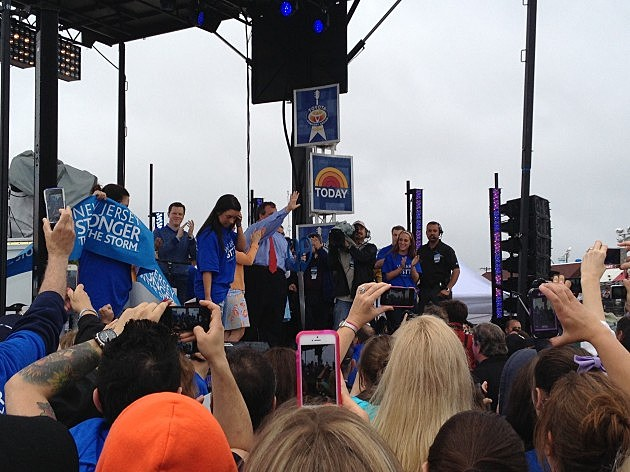 Chris Christie on Stage with the Today Show