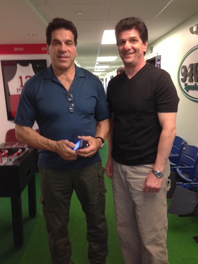 Lou Ferrigno and Steve Trevelise