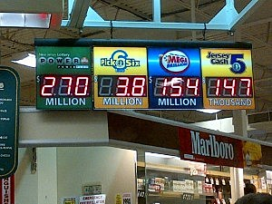 Shop Rite in Ewing displays Saturday's Powerball jackpot amount