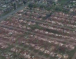Moore, Oklahoma following the tornado