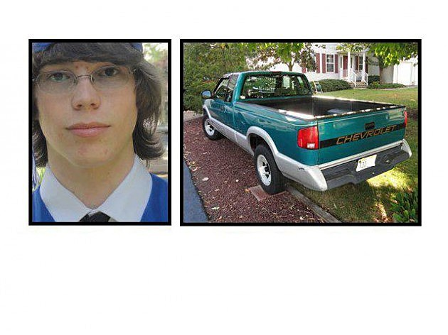 Riley Branstrom  and his pickup truck