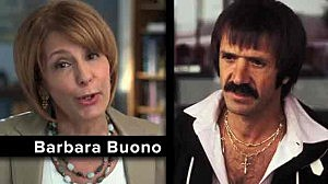 "Screen shot from Barbara Buono's gubernatorial commercial ""Names"""