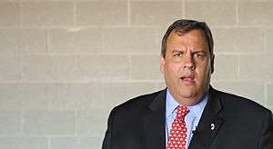 Screen shot of Governor Christie's fleece video