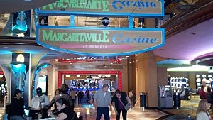 Entrance to Margaritaville casino in Atlantic City