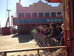 Crowds on the boardwalk in Seaside Heights
