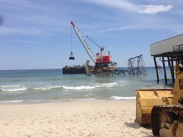 Seaside Heights Roller Coaster is removed from the ocean (NJ101.5 / Townsquaremedia)