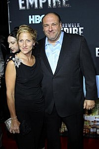 Edie Falco (L) and James Gandolfini