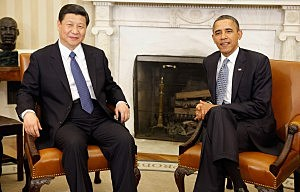President Barack Obama (R) and Chinese Vice President Xi Jinping in 2012
