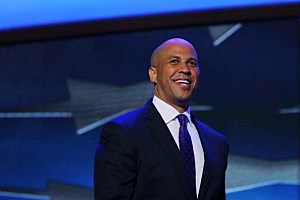 Cory Booker speaks at the Democratic National Convention in Charlotte